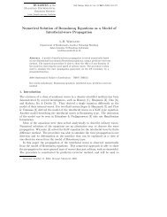 Numerical Solution of Boussinesq Equations as a Model of ...
