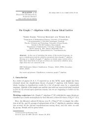 On Graph C∗-Algebras with a Linear Ideal Lattice - European ...