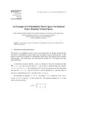 An Example of a Probabilistic Metric Space Not Induced - European ...