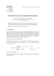 Fractional Derivative of the Multivariable Polynomials [ ] - European ...