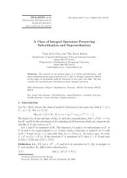 A Class of Integral Operators Preserving Subordination and ...