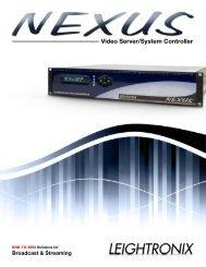 LEIGHTRONIX_Brochure_NEXUS.pdf - Leightronix, Inc. NEXUS