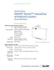 SMART 885i specsheet - SMART Technologies