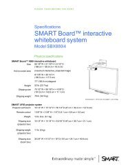 Model SBX880i4 - SMART Technologies