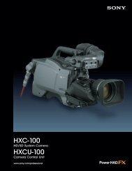 HXC-100 HXCU-100 - Sony