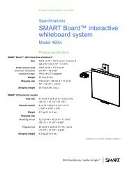 SMART Board 480iv interactive whiteboard system specifications