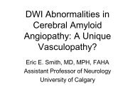 DWI Abnormalities in Cerebral Amyloid Angiopathy: A Unique ...