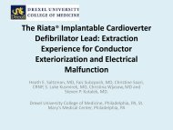 The Riata® Implantable Cardioverter Defibrillator Lead: Extraction ...