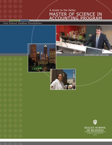 master of science in accounting program - AIM @ IU Home - Indiana ...