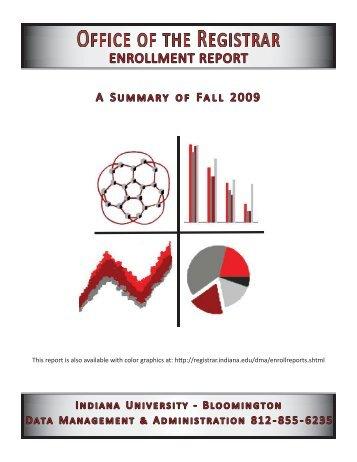 ENROLLMENT REPORT - AIM @ IU Home - Indiana University