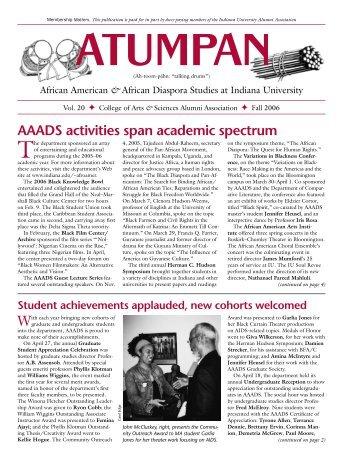 AAADS activities span academic spectrum - AIM @ IU Home ...