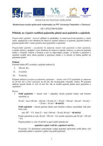 Zajištění. - Univerzita Palackého v Olomouci