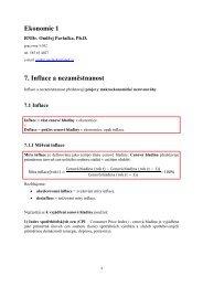 Ekonomie 1 7. Inflace a nezaměstnanost - Index of