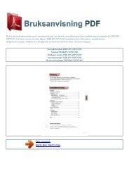 Instruktionsbok PHILIPS 29PT5305 - BRUKSANVISNING PDF
