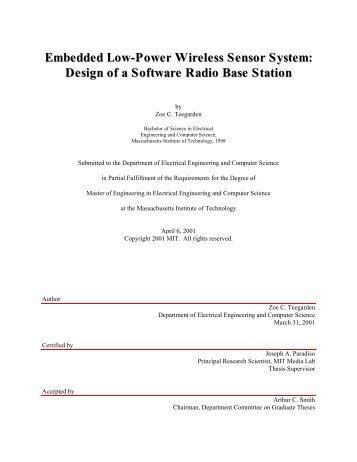 Embedded Low-Power Wireless Sensor System - Responsive ...