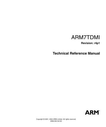 ARM7TDMI Technical Reference Manual - Responsive ...