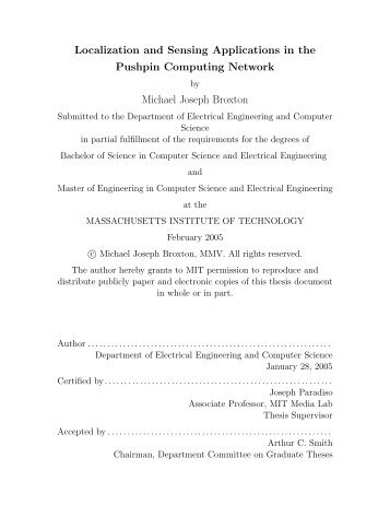 Localization and Sensing Applications in the Pushpin Computing ...