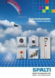 Sicherheitsschalter für indirekte Abschaltung - Spälti