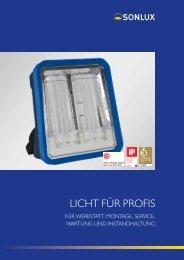 Licht für Profis von SONLUX