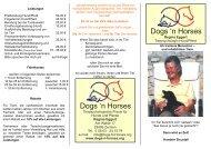 Flyer final - Dogs 'n Horses