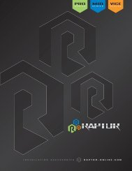 Raptor Catalog - Metra Electronics
