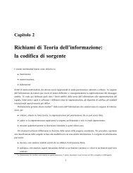 Richiami di Teoria dell'informazione: la codifica di sorgente - InfoCom