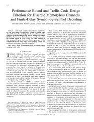 Performance bound and trellis-code design criterion for discrete ...