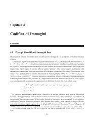 Capitolo 4 Codifica di Immagini - InfoCom