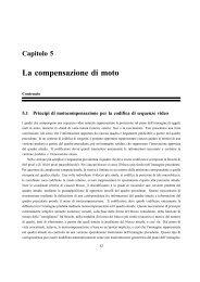 Capitolo 5 La compensazione di moto - InfoCom