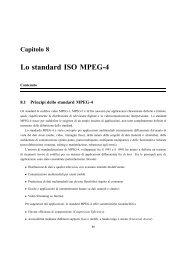Lo standard ISO MPEG-4 - InfoCom