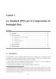 Lo Standard JPEG per la Compressione di Immagini Fisse - InfoCom