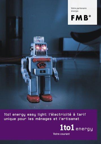 1to1 energy easy light: l'électricité à tarif unique pour les ménages et ...
