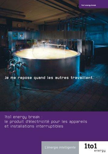 1to1 energy break : le produit d'électricité pour les appareils et ...