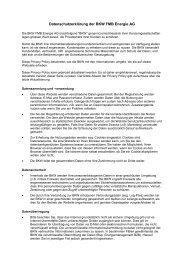 Datenschutzerklärung der BKW FMB Energie AG