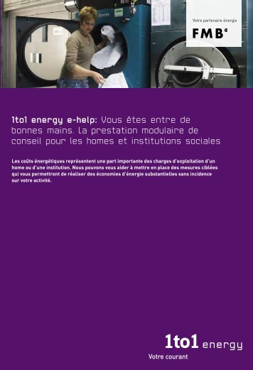 1to1 energy e-Help pour les homes