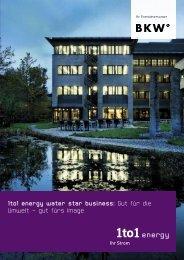 1to1 energy water star business: Gut für die Umwelt – gut fürs Image