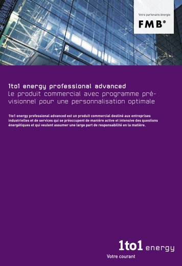 1to1 energy professional advanced Le produit commercial avec ...
