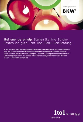 1to1 energy e-help: Stellen Sie Ihre Strom- kosten ins gute Licht ...