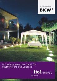 1to1 energy easy: der Tarif für Haushalte und das Gewerbe