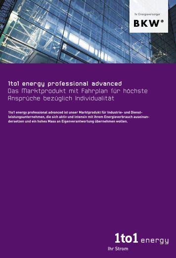 1to1 energy professional advanced Das Marktprodukt mit Fahrplan ...
