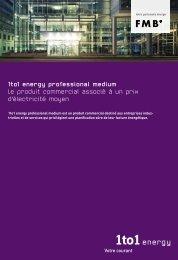 1to1 energy professional medium Le produit commercial associé à ...
