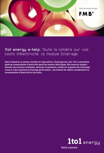 1to1 energy e-help: Toute la lumière sur vos coûts d'électricité. Le ...