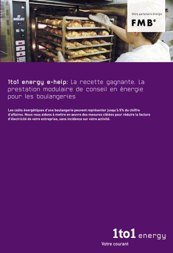 1to1 energy e-Help pour les boulangeries