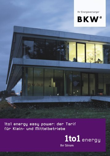 1to1 energy easy power: der Tarif für Klein- und Mittelbetriebe