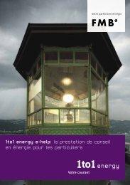1to1 energy e-help: la prestation de conseil en énergie pour les ...