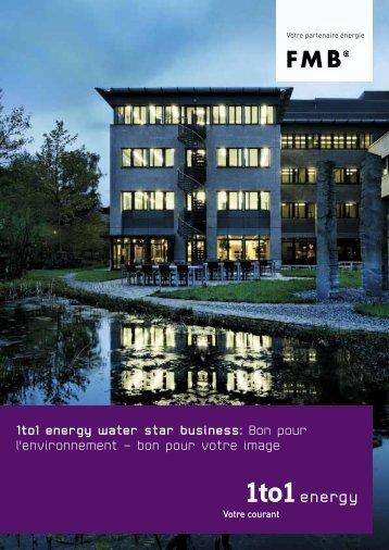 1to1 energy water star business: Bon pour l'environnement – bon ...