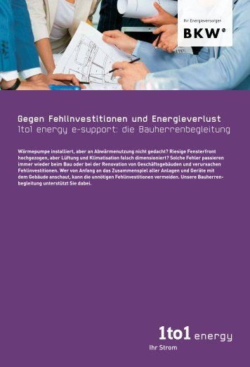 Gegen Fehlinvestitionen und Energieverlust 1to1 energy e-support ...