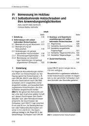 IV Bemessung im Holzbau IV.1 Selbstbohrende ... - 1aSchrauben.de