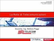 La Rete di Telecomunicazioni - Sapienza