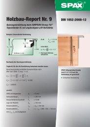 Holzbau-Report Nr. 9 - 1aSchrauben.de